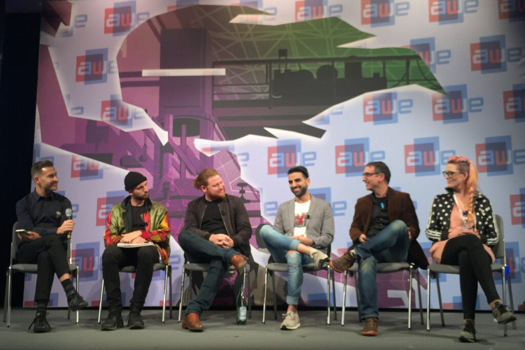 AR & Art panel members at AWE Europe 2017 conference